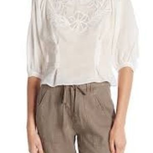 Joie Radeli Top Floral Embroidery